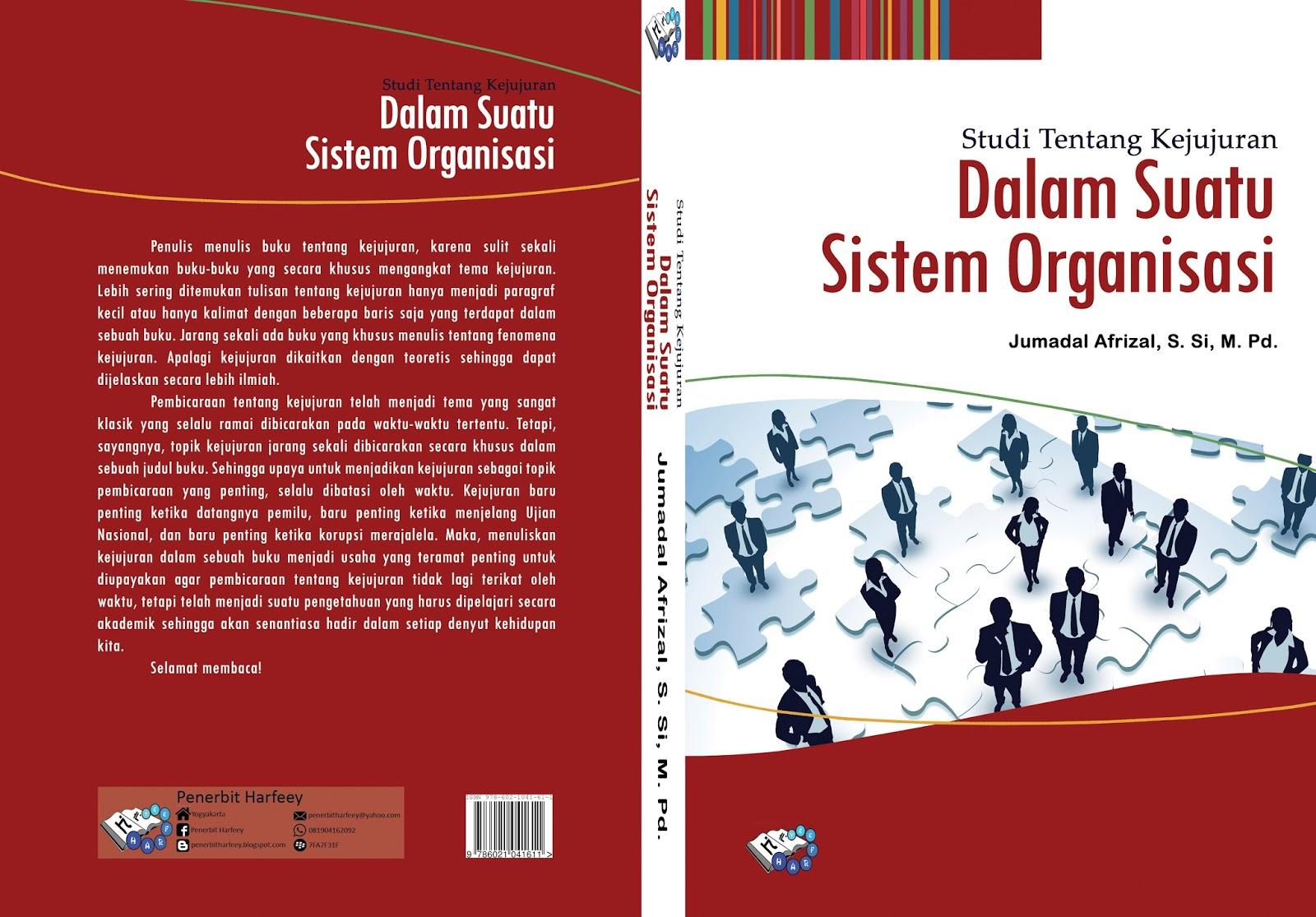 Cover Buku - Studi Tentang Kejujuran & Studi Tentang Kejujuran dalam Suatu Sistem Organisasi | BLOG JUMADAL ...